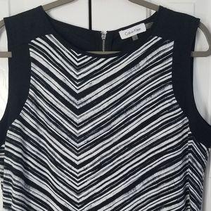 💜3 for $20 NWOT C Klein black white striped Large